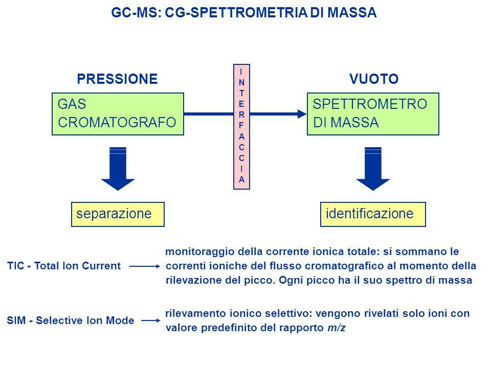 GC-MS: CG-SPETTROMETRIA DI MASSA