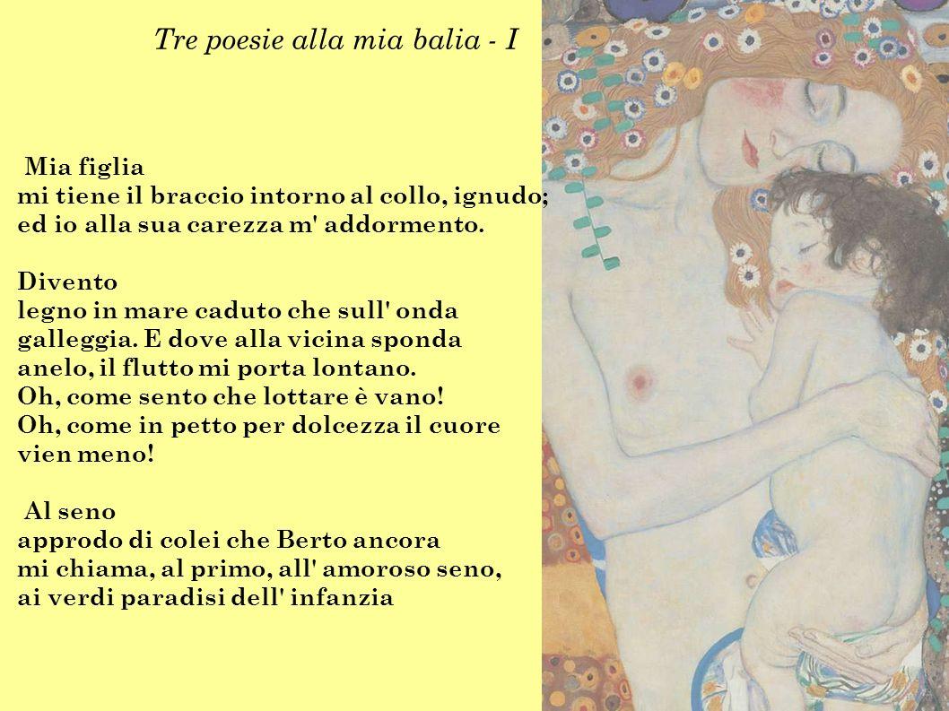 Tre poesie alla mia balia - I