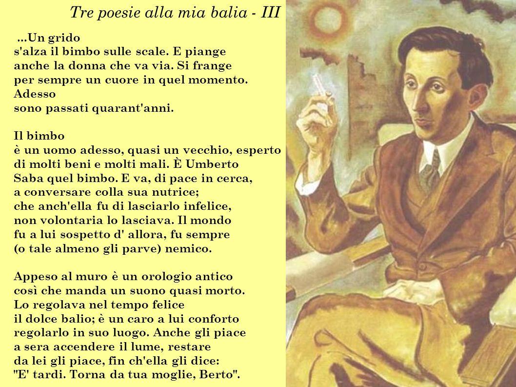 Tre poesie alla mia balia - III