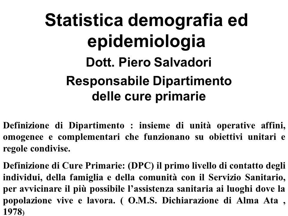 Statistica demografia ed epidemiologia