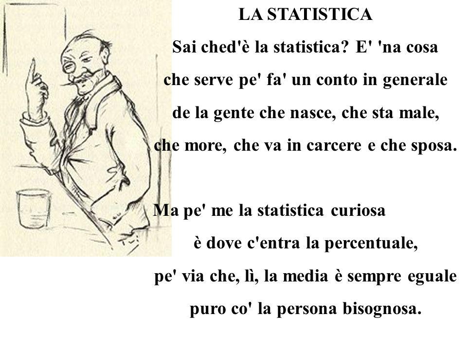 Sai ched è la statistica E na cosa