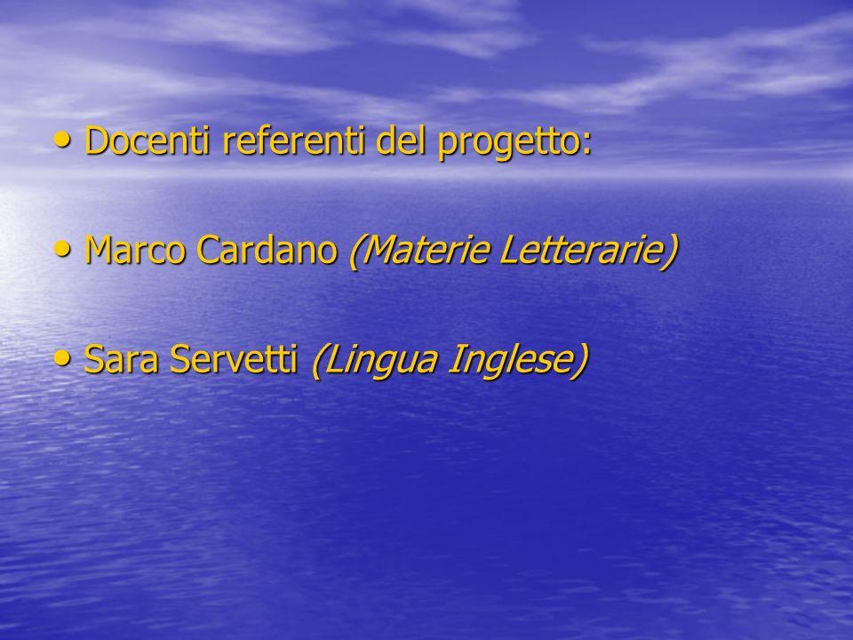 Docenti referenti del progetto: