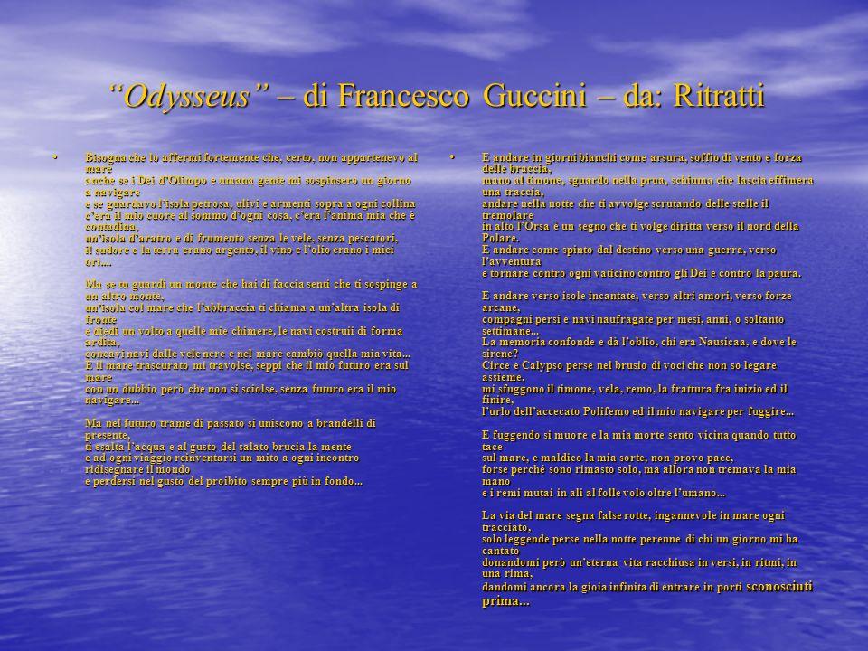 Odysseus – di Francesco Guccini – da: Ritratti