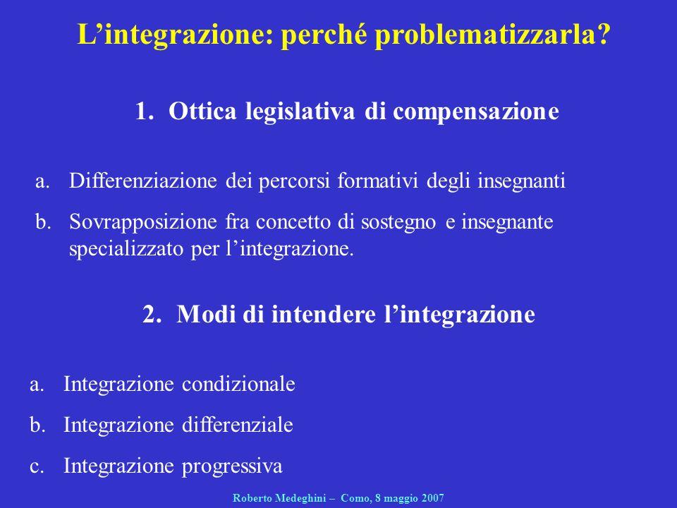L'integrazione: perché problematizzarla