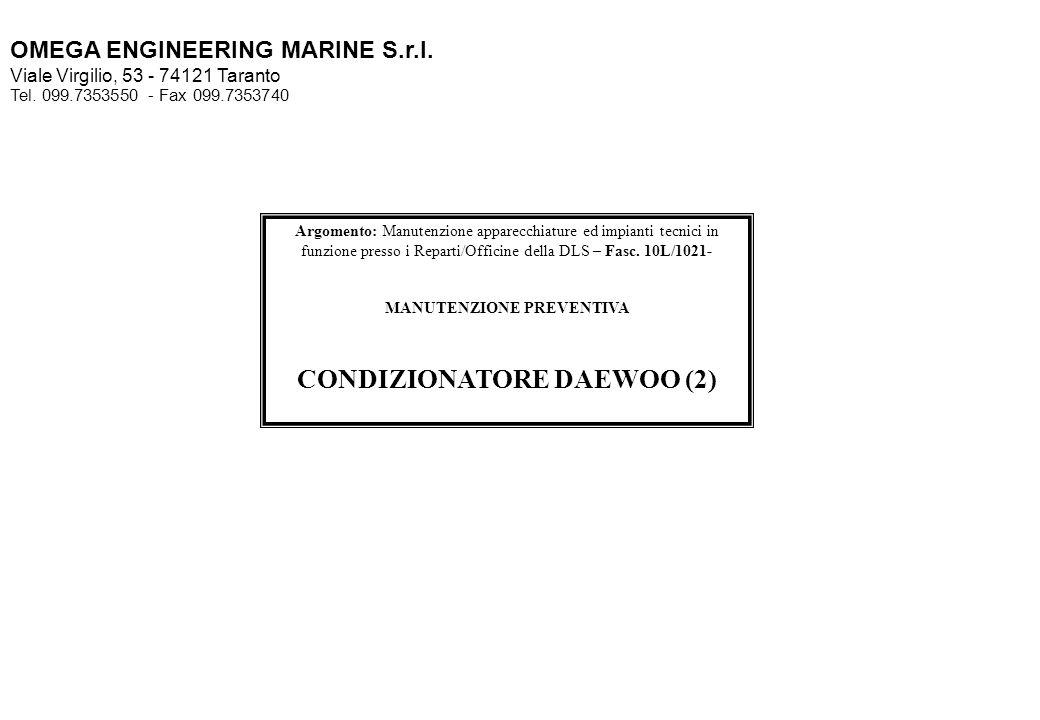 MANUTENZIONE PREVENTIVA CONDIZIONATORE DAEWOO (2)