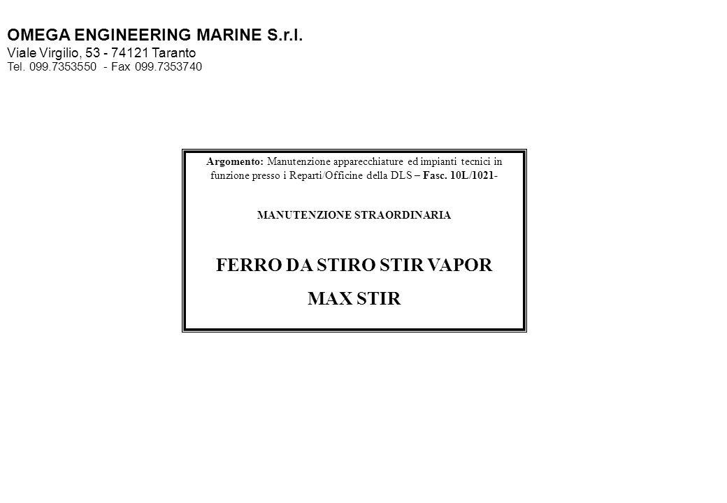 MANUTENZIONE STRAORDINARIA FERRO DA STIRO STIR VAPOR