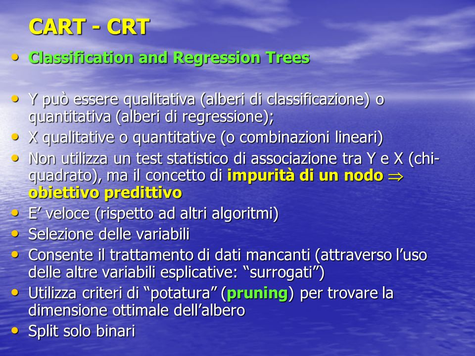 CART - CRT Classification and Regression Trees