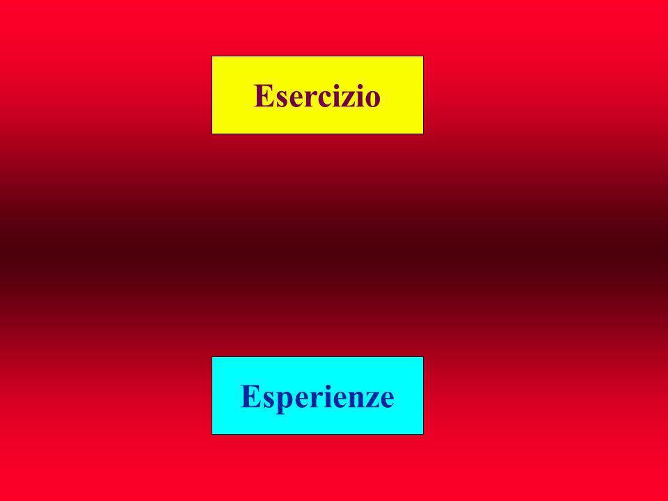 Esercizio Esperienze