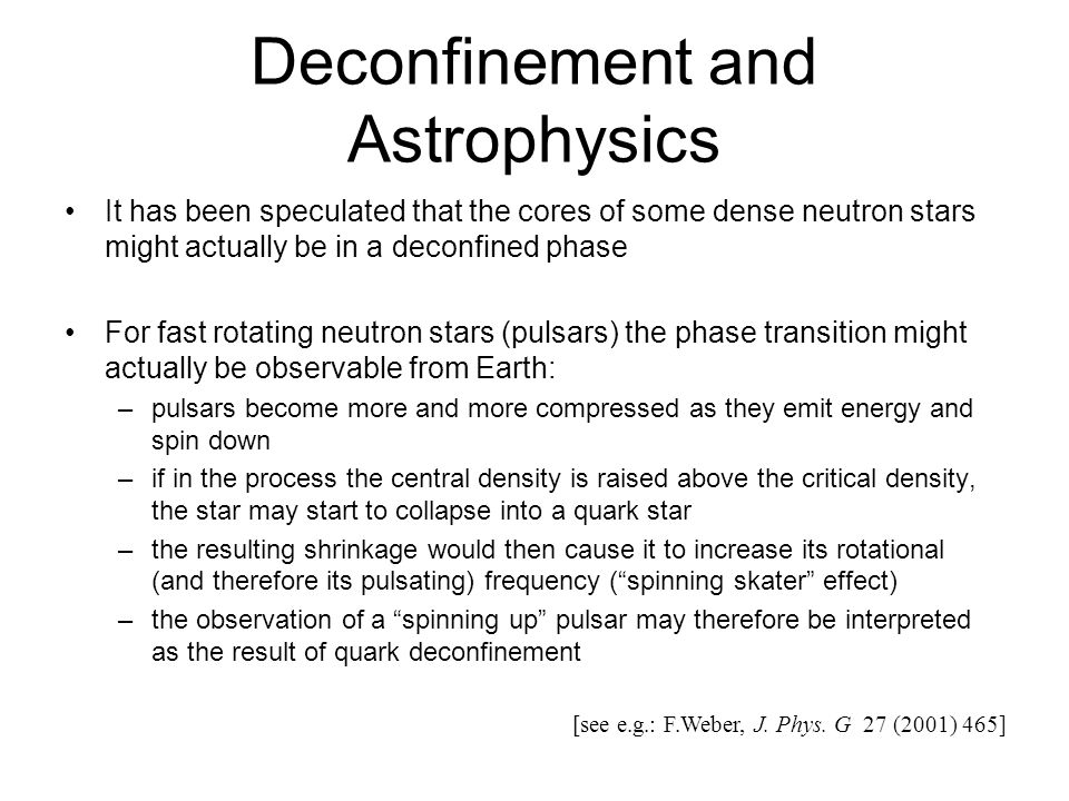 Deconfinement and Astrophysics
