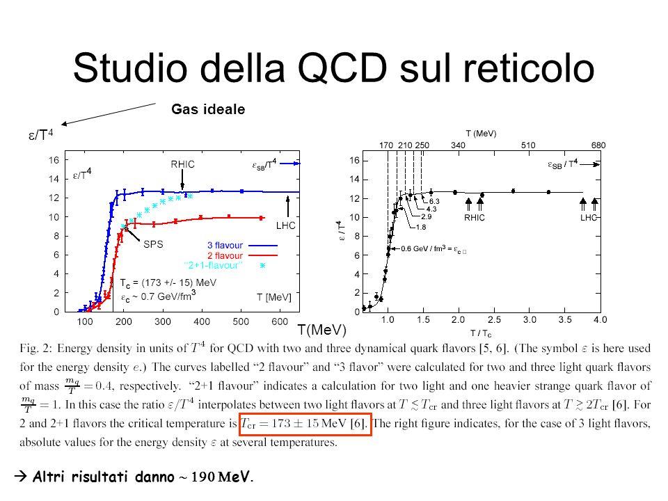 Studio della QCD sul reticolo