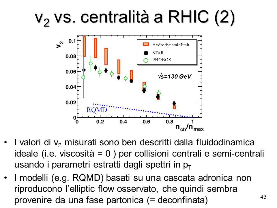 v2 vs. centralità a RHIC (2)