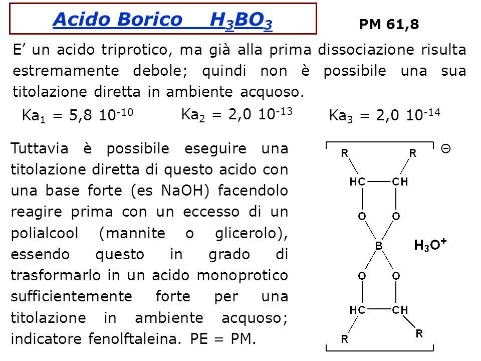 Acido Borico H3BO3 PM 61,8.