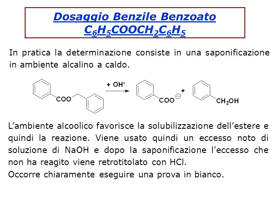 Dosaggio Benzile Benzoato