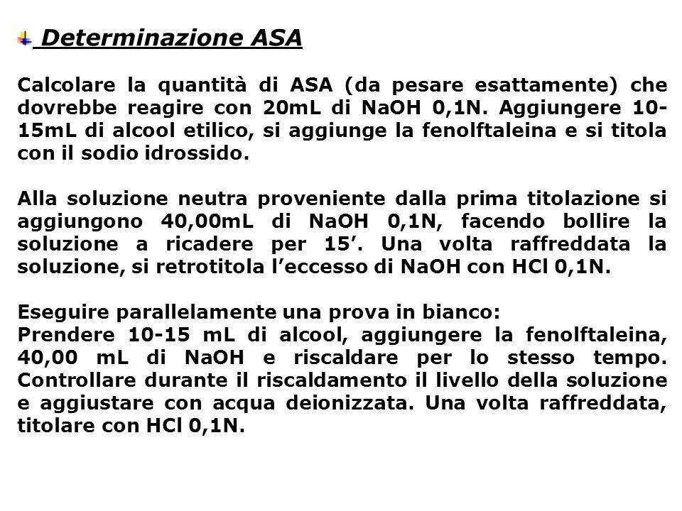 Determinazione ASA