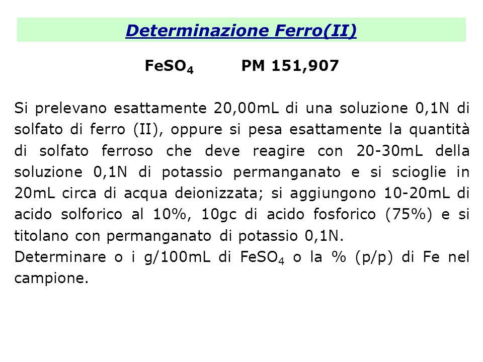 Determinazione Ferro(II)