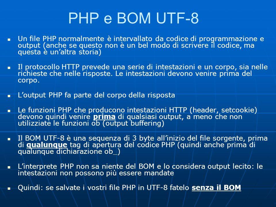 PHP e BOM UTF-8