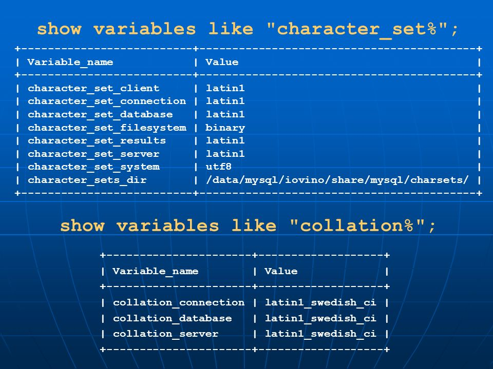 show variables like character_set% ;