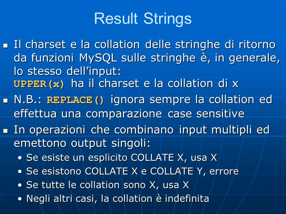 Result Strings