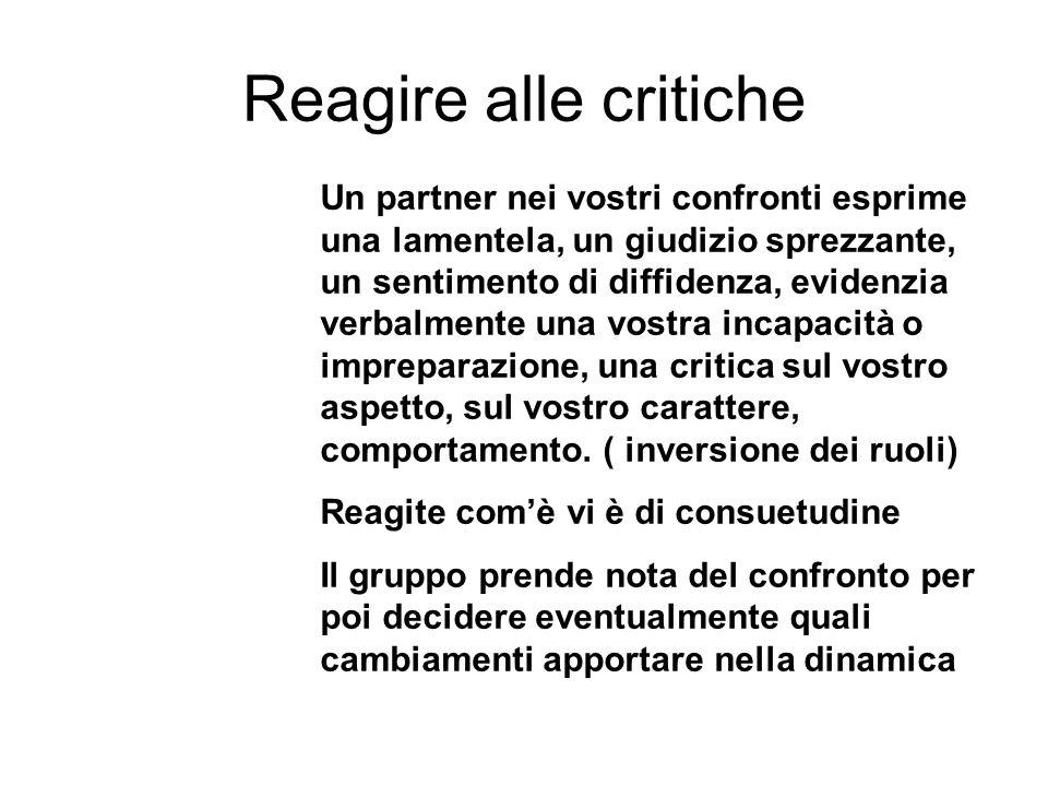 Reagire alle critiche