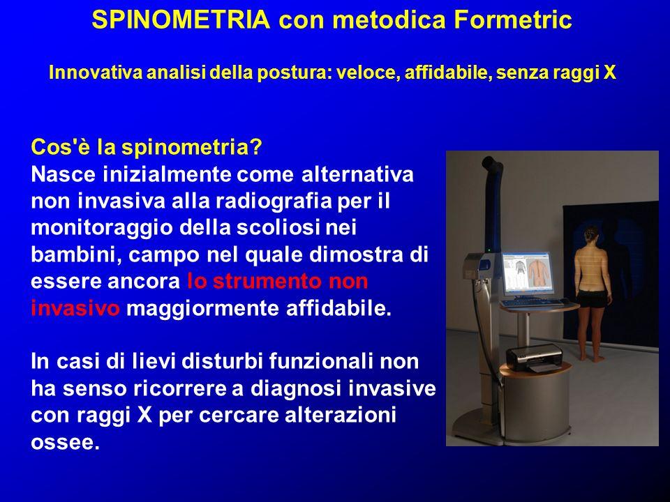 SPINOMETRIA con metodica Formetric