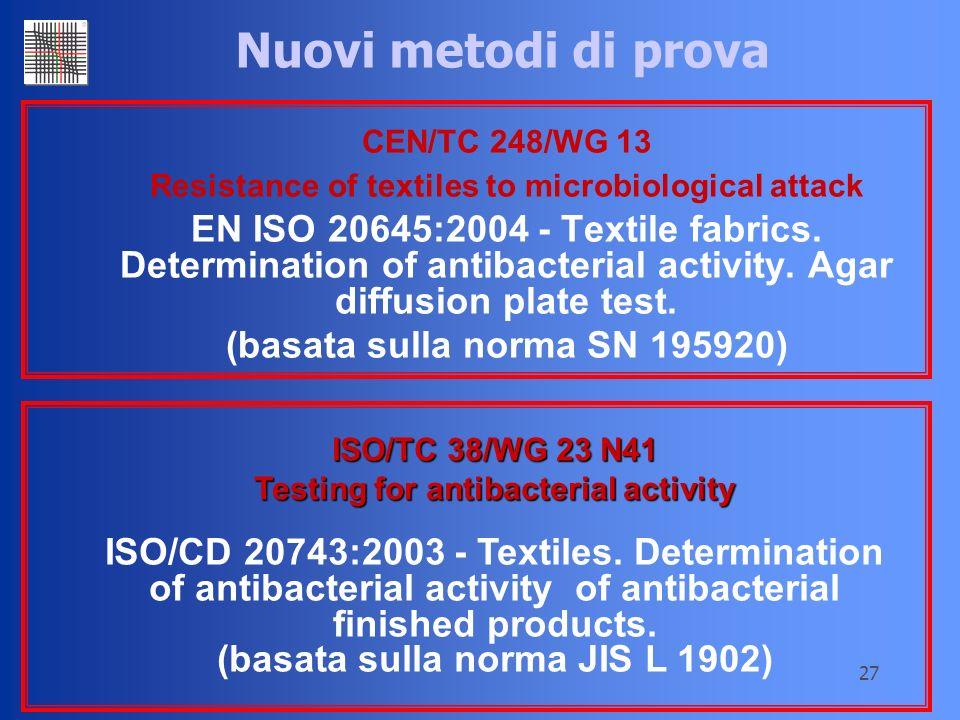 (basata sulla norma SN 195920) (basata sulla norma JIS L 1902)
