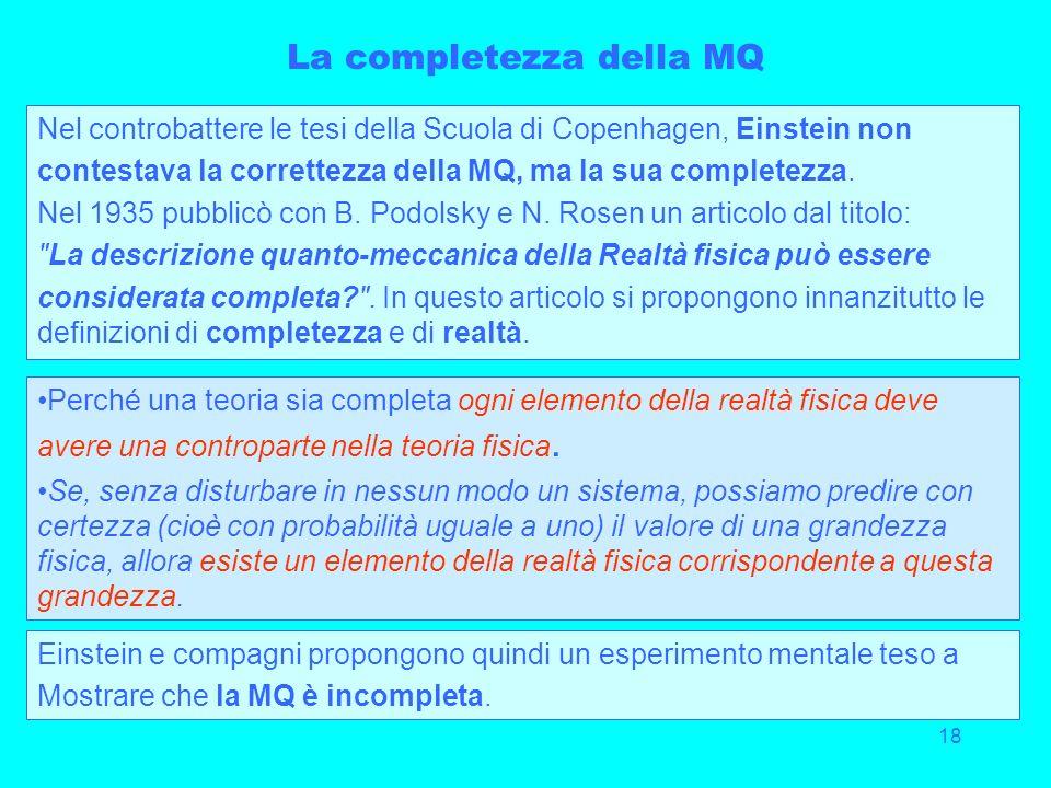 La completezza della MQ
