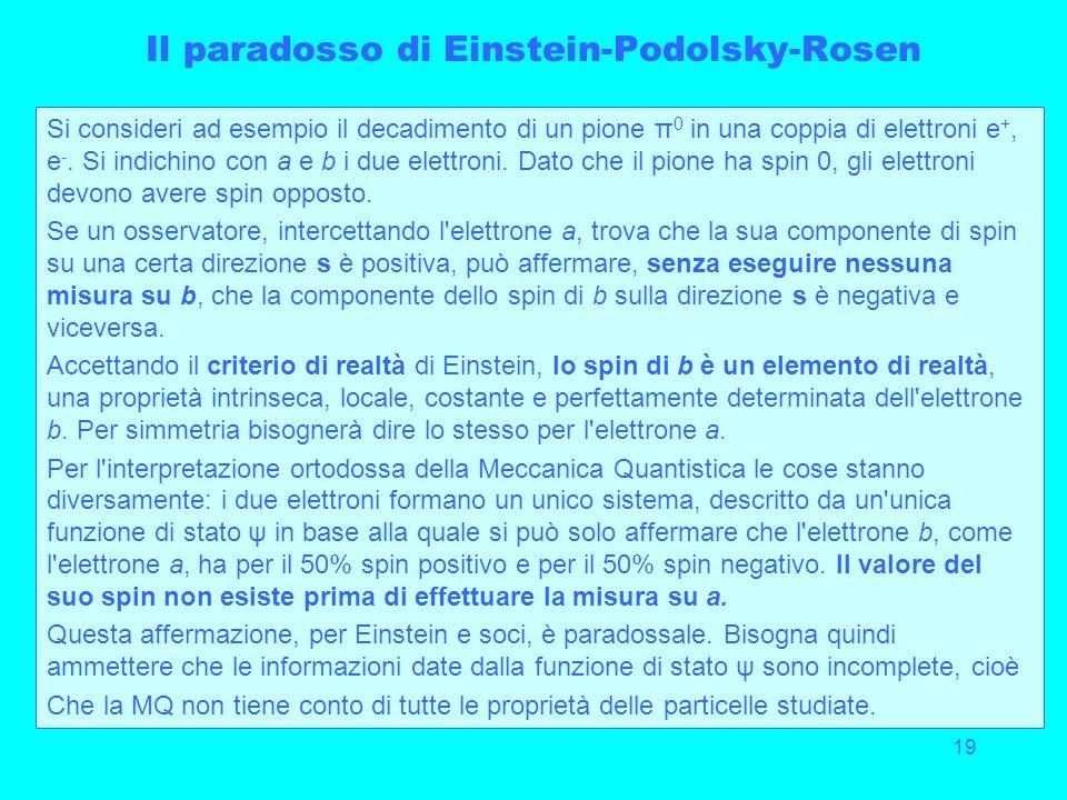 Il paradosso di Einstein-Podolsky-Rosen