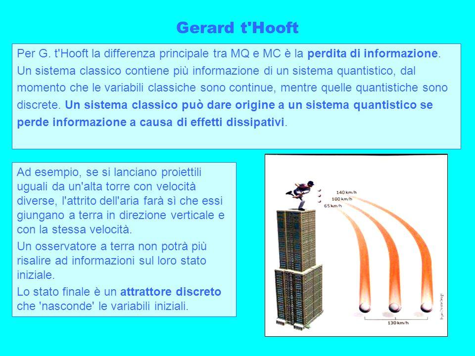 Gerard t HooftPer G. t Hooft la differenza principale tra MQ e MC è la perdita di informazione.