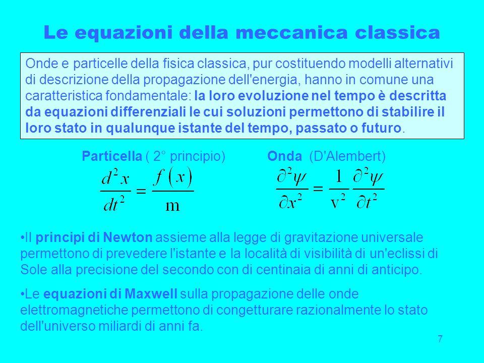 Le equazioni della meccanica classica
