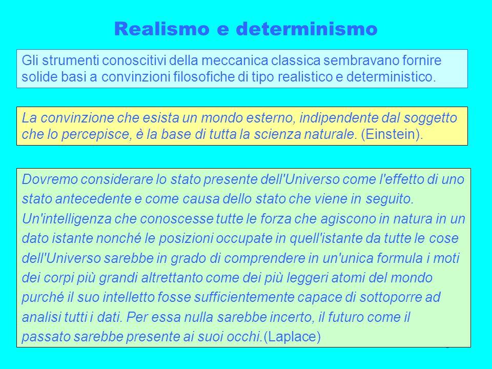 Realismo e determinismo