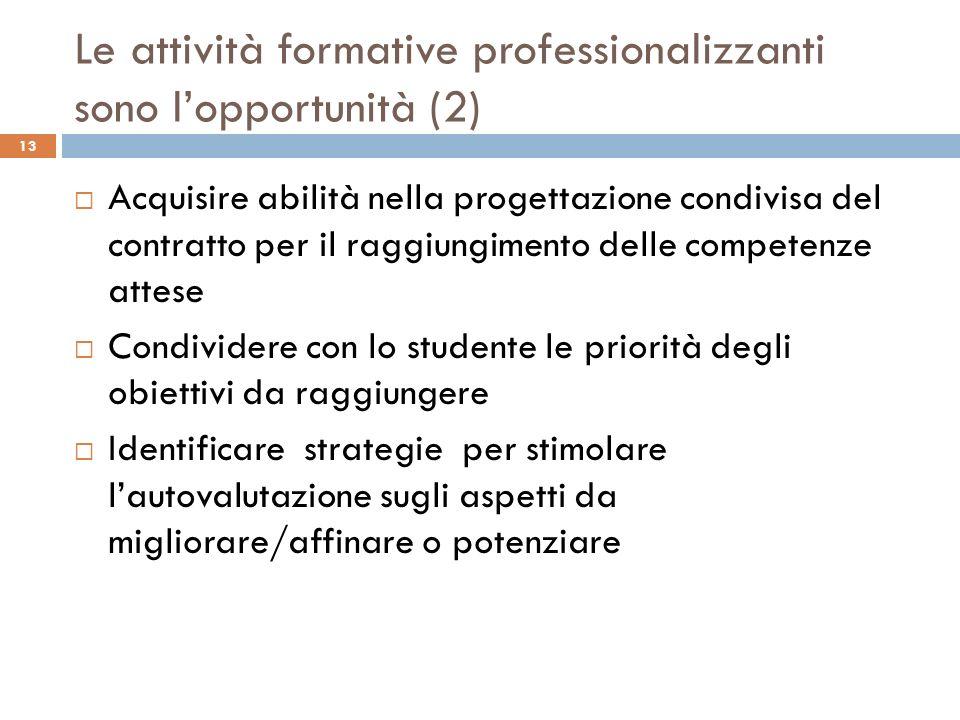 Le attività formative professionalizzanti sono l'opportunità (2)