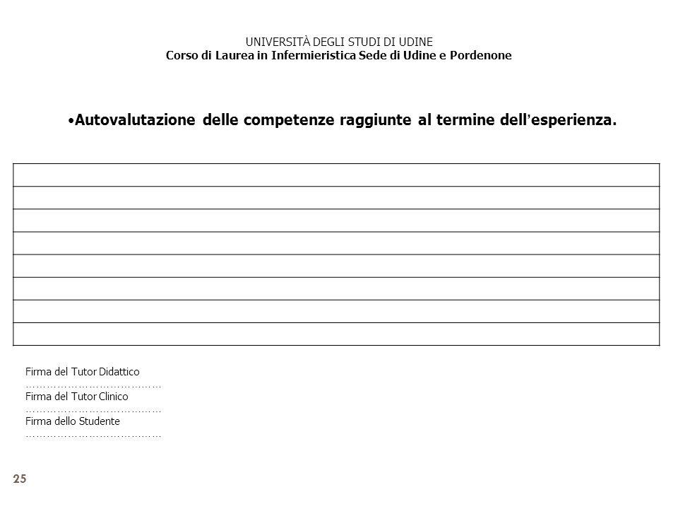 Corso di Laurea in Infermieristica Sede di Udine e Pordenone