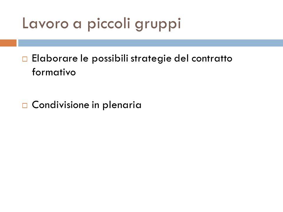 Lavoro a piccoli gruppi