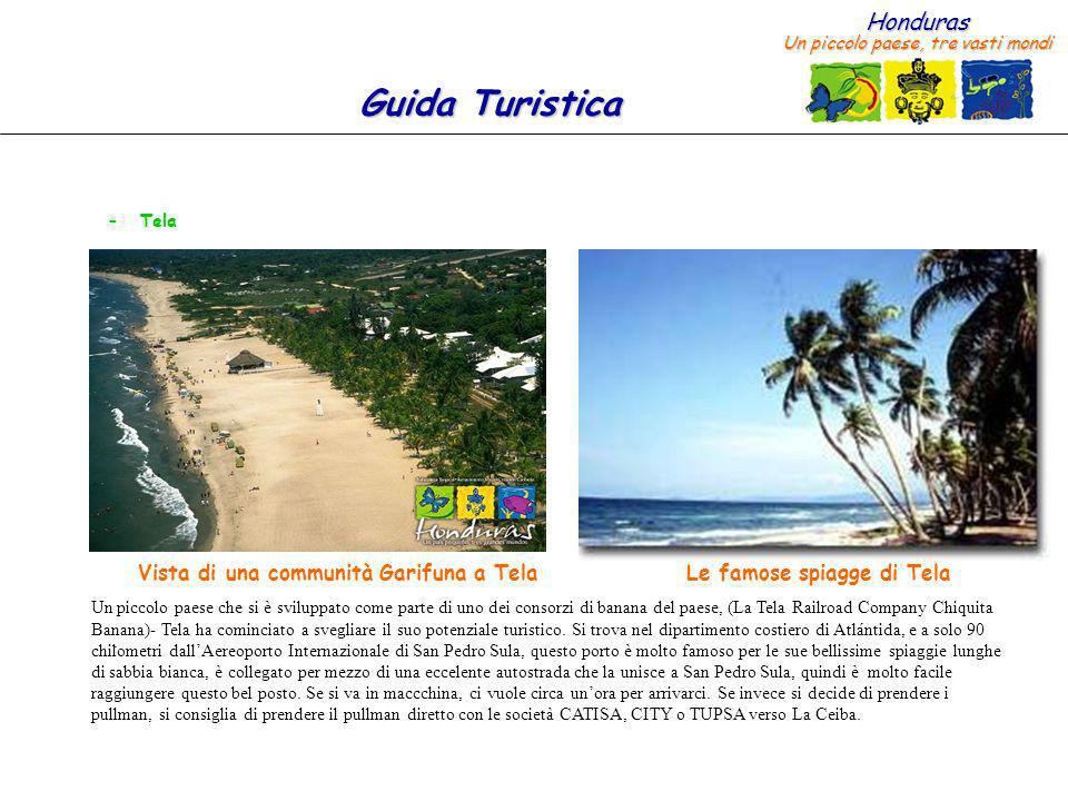 Vista di una communità Garifuna a Tela Le famose spiagge di Tela