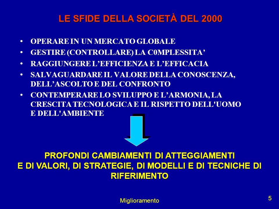LE SFIDE DELLA SOCIETÀ DEL 2000