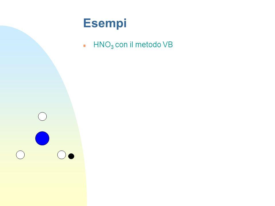 Esempi HNO3 con il metodo VB