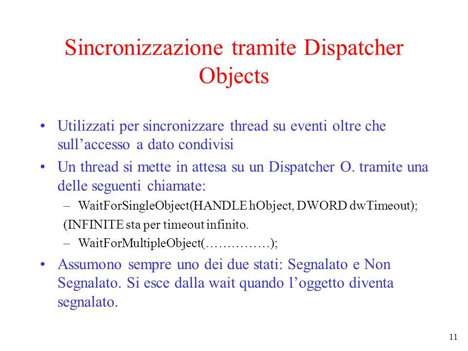 Sincronizzazione tramite Dispatcher Objects