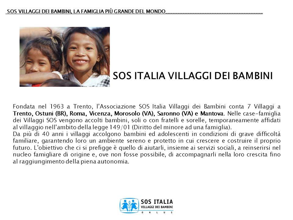 SOS ITALIA VILLAGGI DEI BAMBINI