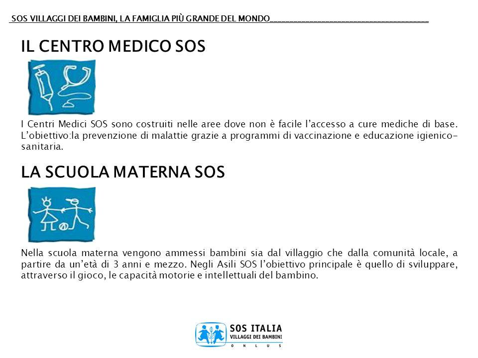 IL CENTRO MEDICO SOS LA SCUOLA MATERNA SOS