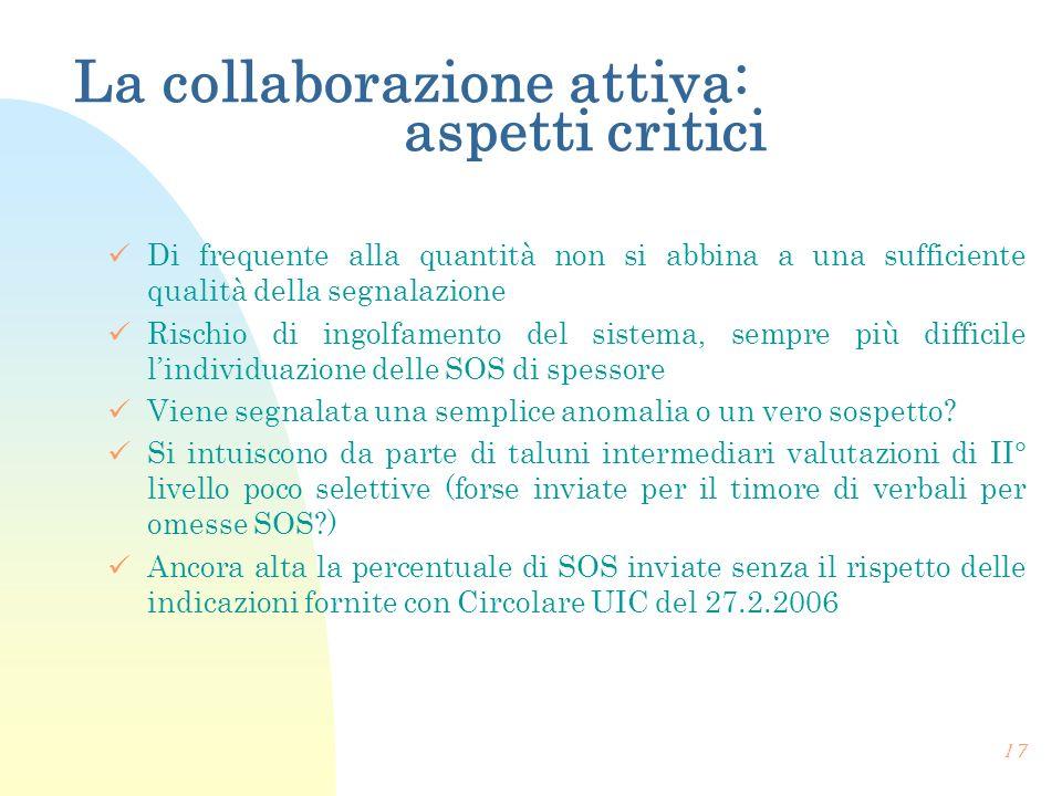 La collaborazione attiva: aspetti critici
