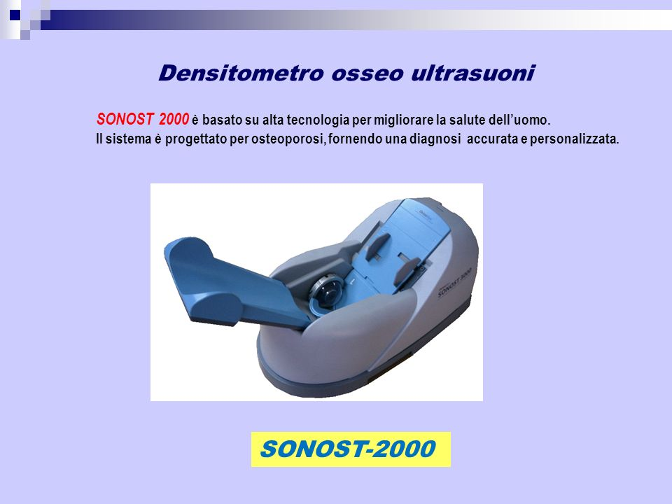 Densitometro osseo ultrasuoni