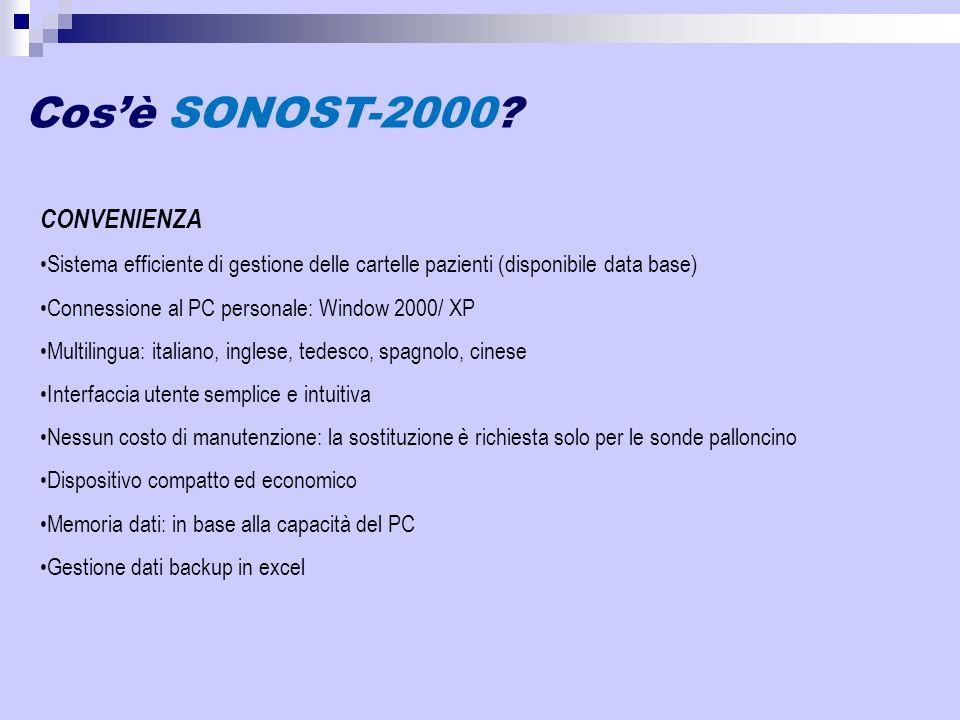 Cos'è SONOST-2000 CONVENIENZA