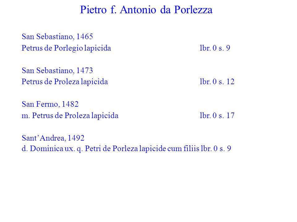 Pietro f. Antonio da Porlezza