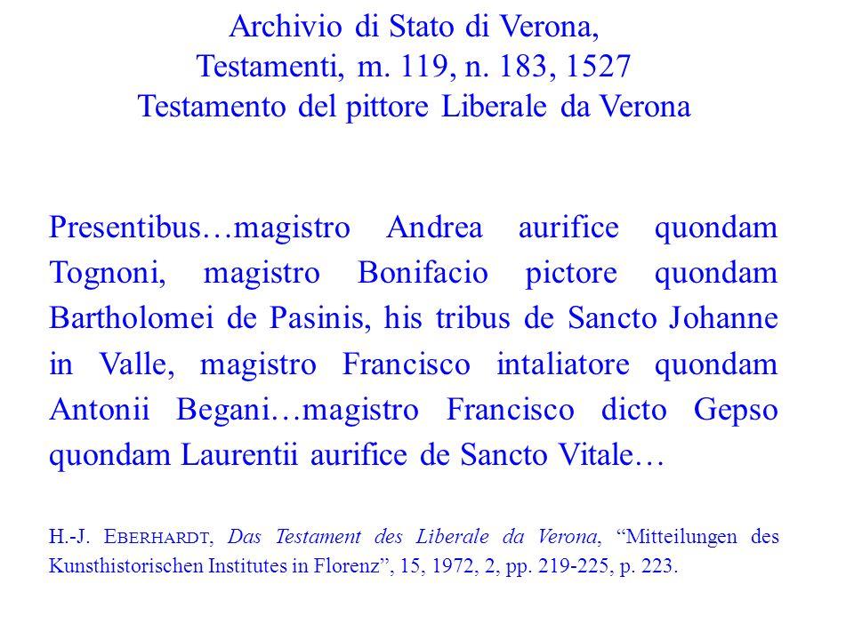 Archivio di Stato di Verona, Testamenti, m. 119, n. 183, 1527