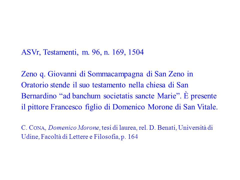 C. Cona, Domenico Morone, tesi di laurea, rel. D