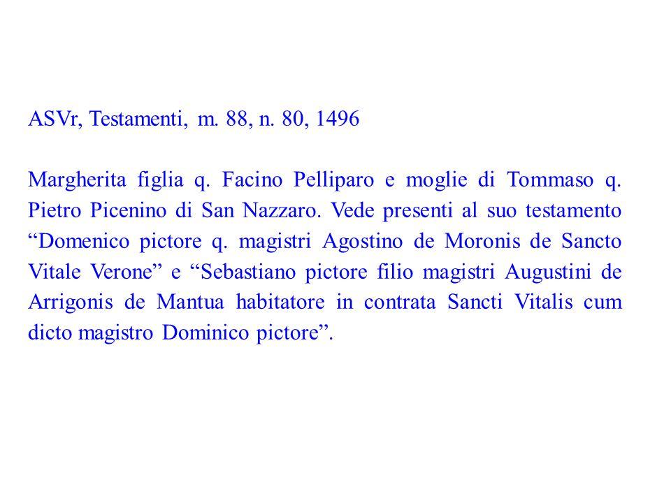 ASVr, Testamenti, m. 88, n. 80, 1496