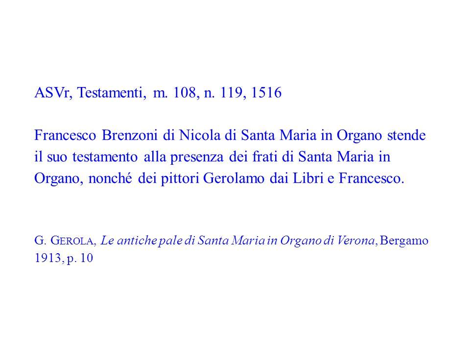 ASVr, Testamenti, m. 108, n. 119, 1516