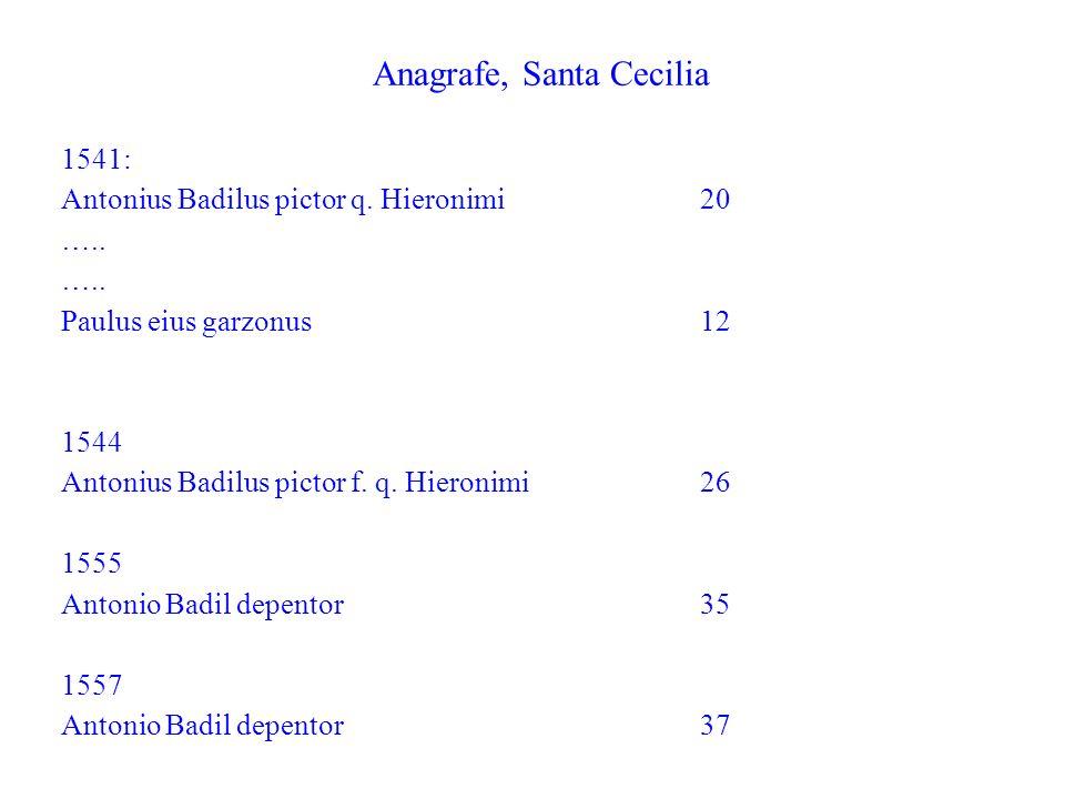 Anagrafe, Santa Cecilia