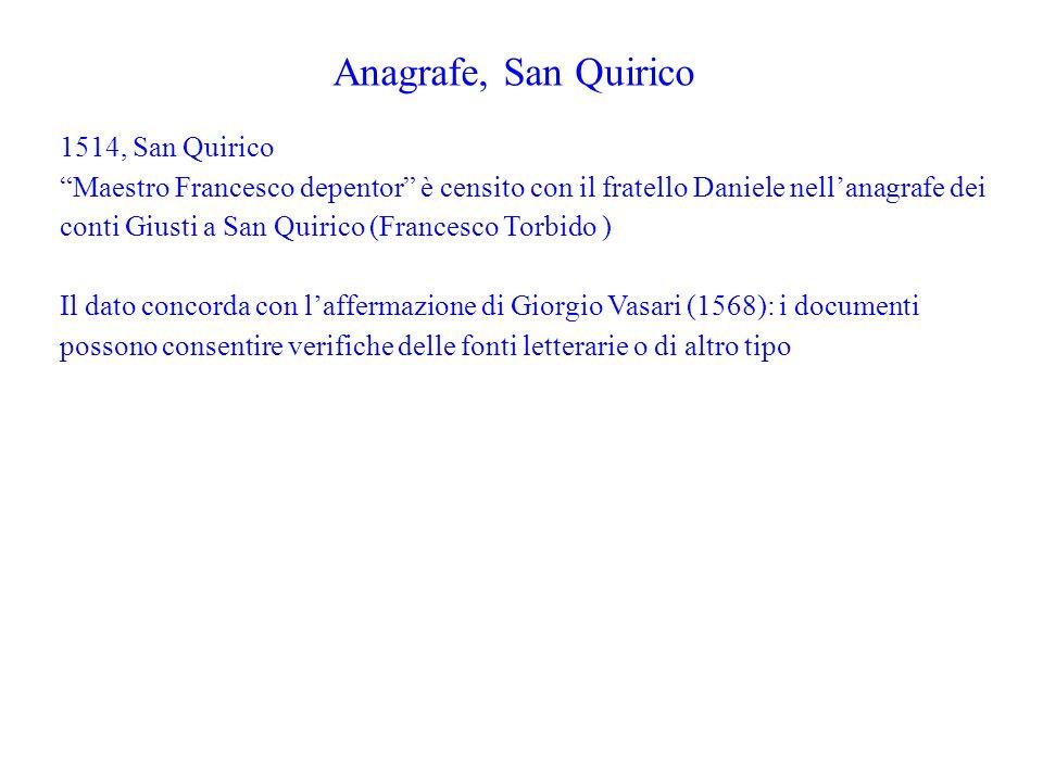 Anagrafe, San Quirico 1514, San Quirico