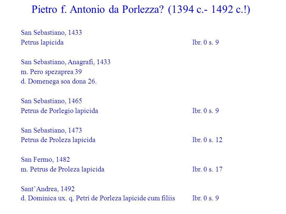 Pietro f. Antonio da Porlezza (1394 c.- 1492 c.!)